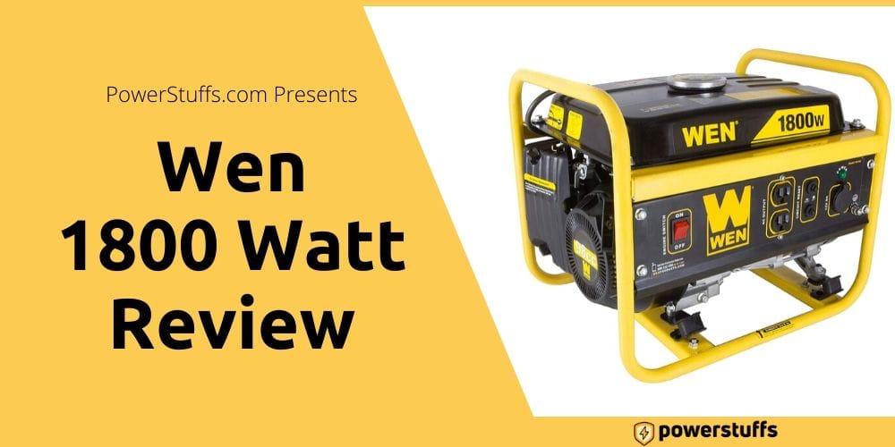 Wen 1800 watt Generator Reviews