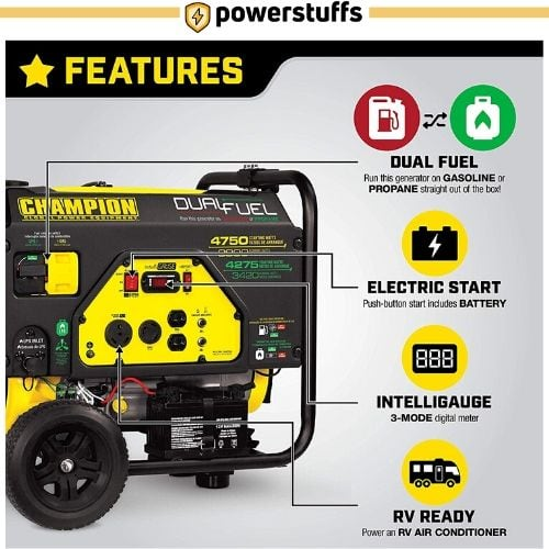 Champion 3800 Dual Fuel Generator Feature
