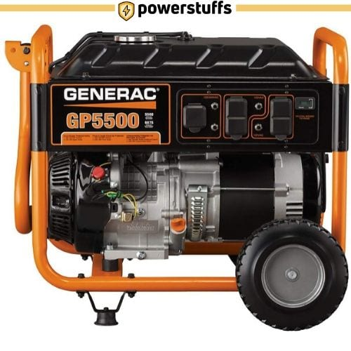 Generac 5939 GP5500 5500 Gas Powered Portable Generator