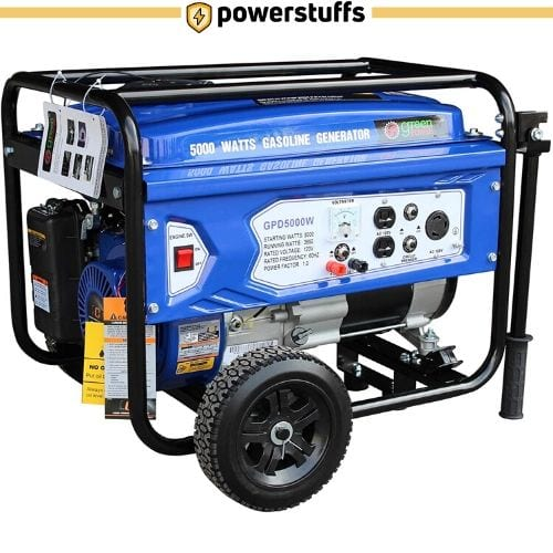 Green-Power America GPD5000W Gasoline Generator