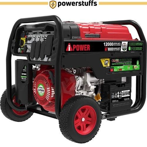 A-iPower SUA12000ED Dual Fuel Portable Generator
