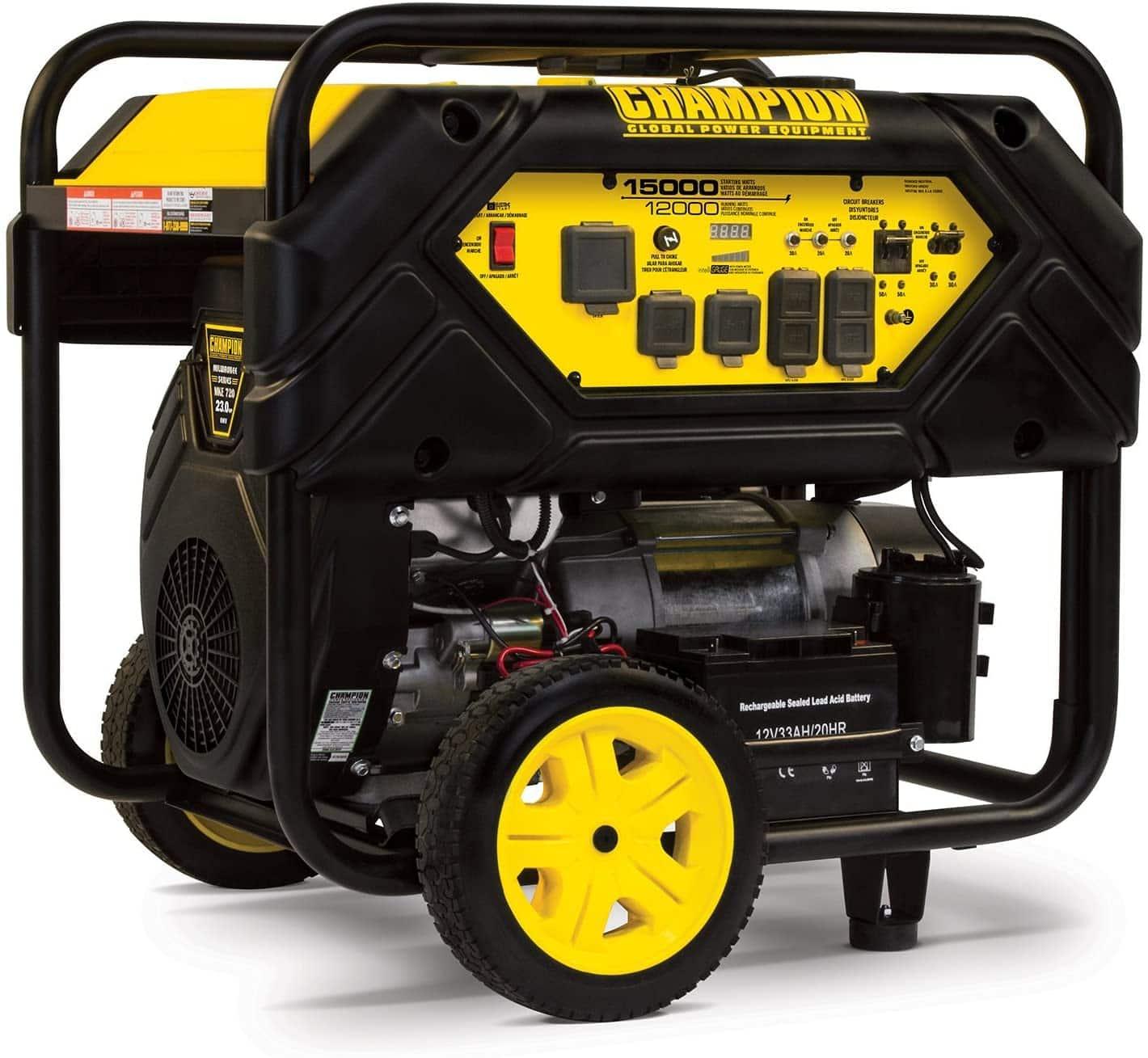 Champion 12,000-Watt Electric Start Portable Generator