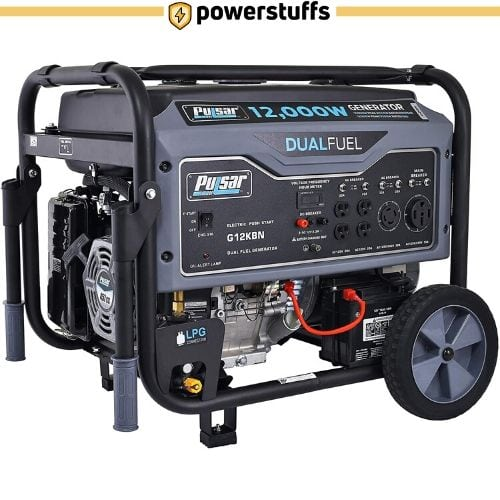 Pulsar G12KBN Heavy Duty Portable Dual Fuel Generator
