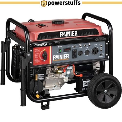 Rainier R12000DF Dual Fuel Generator with Electric Start