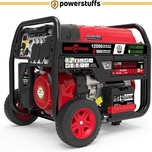 Rockpals 12000-Watt Dual Fuel Portable Generator