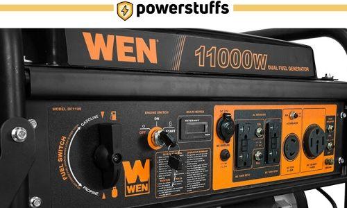 WEN 11000 Watt Dual Fuel Generator Outlet Review