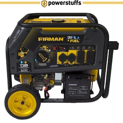 Firman H05751 7125 Watt Dual Fuel Portable Generator