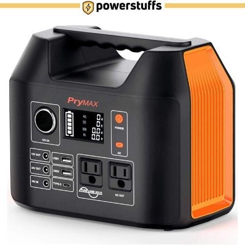 PRYMAX Portable Power Station, 300W Solar Generator