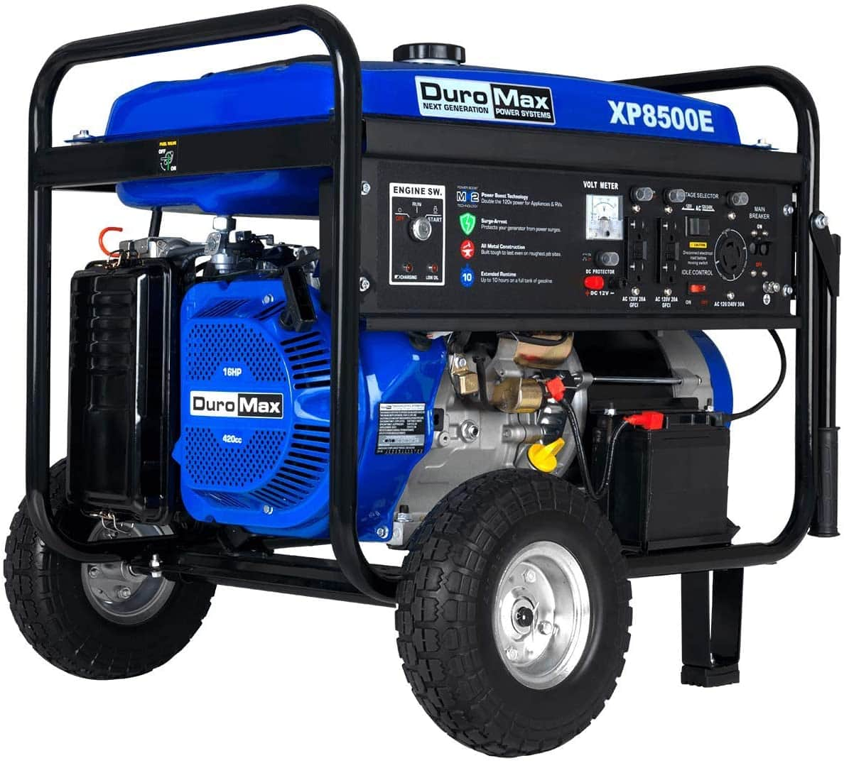 Duromax XP8500E Gas Powered 8500 Watt Electric Start Portable Generator