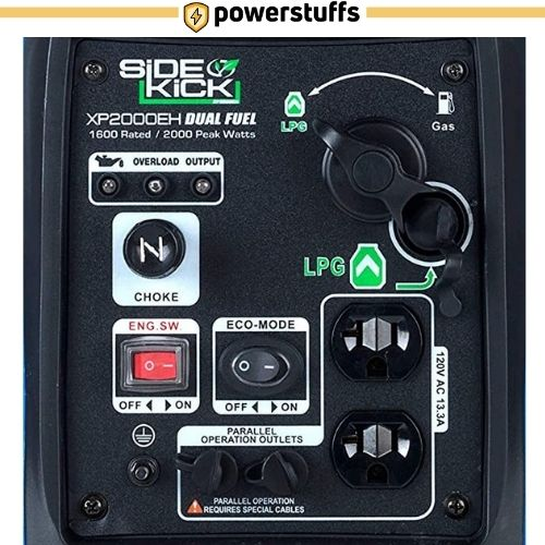 DuroMax XP2000EH Dual Fuel Inverter Generator Outlet Review